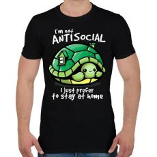 PRINTFASHION Antiszoci teknős - Férfi póló - Fekete