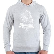 PRINTFASHION Apacs - Férfi kapucnis pulóver - Sport szürke