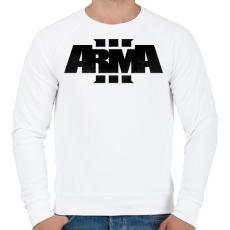 PRINTFASHION Arma - Férfi pulóver - Fehér