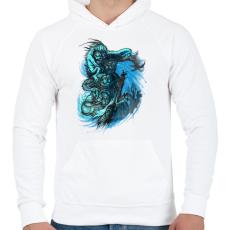 PRINTFASHION Árnyjáték - Férfi kapucnis pulóver - Fehér