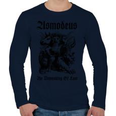 PRINTFASHION Asmodeus - Férfi hosszú ujjú póló - Sötétkék