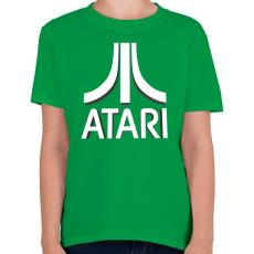 PRINTFASHION ATARI 3D Logo - Gyerek póló - Zöld