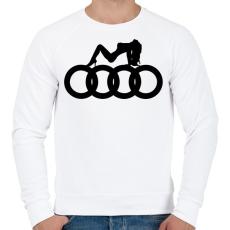 PRINTFASHION Audi - Férfi pulóver - Fehér