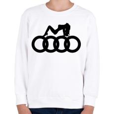 PRINTFASHION Audi - Gyerek pulóver - Fehér