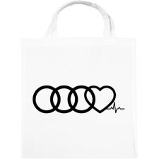 PRINTFASHION AUDI Love - Vászontáska - Fehér kézitáska és bőrönd