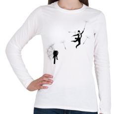 PRINTFASHION Aurevoir - Női hosszú ujjú póló - Fehér