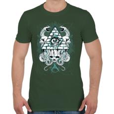 PRINTFASHION Az anarchia szeme - Férfi póló - Katonazöld