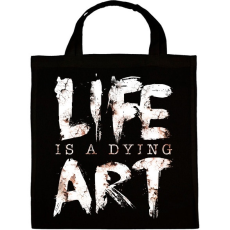 PRINTFASHION Az élet egy haldokló művészet - Vászontáska - Fekete