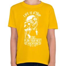 PRINTFASHION Az élet egy utazás  - Gyerek póló - Sárga