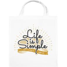 PRINTFASHION Az élet egyszerű - Vászontáska - Fehér