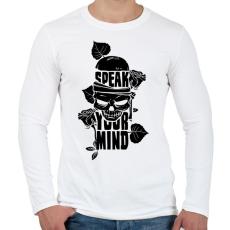 PRINTFASHION Az elméd - Férfi hosszú ujjú póló - Fehér