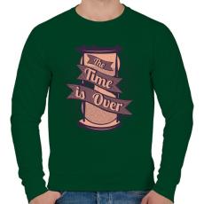 PRINTFASHION Az idő lejárt - Férfi pulóver - Sötétzöld