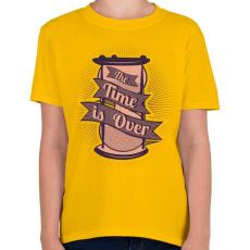 PRINTFASHION Az idő lejárt - Gyerek póló - Sárga