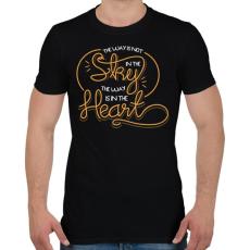 PRINTFASHION Az út nem az égben van, hanem a szívben - Férfi póló - Fekete