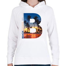 PRINTFASHION B BEACH - Női kapucnis pulóver - Fehér