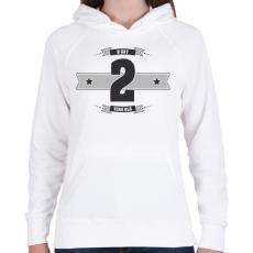 PRINTFASHION b-day-02-dark-lightgrey - Női kapucnis pulóver - Fehér