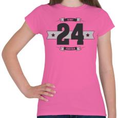 PRINTFASHION b-day-24-dark-lightgrey - Női póló - Rózsaszín