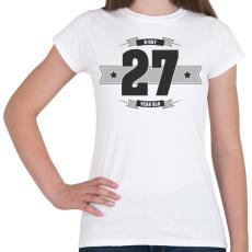 PRINTFASHION b-day-27-dark-lightgrey - Női póló - Fehér
