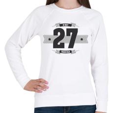 PRINTFASHION b-day-27-dark-lightgrey - Női pulóver - Fehér