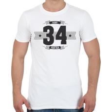 PRINTFASHION b-day-34-dark-lightgrey - Férfi póló - Fehér
