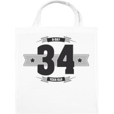 PRINTFASHION b-day-34-dark-lightgrey - Vászontáska - Fehér