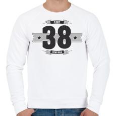 PRINTFASHION b-day-38-dark-lightgrey - Férfi pulóver - Fehér
