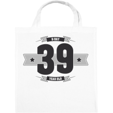 PRINTFASHION b-day-39-dark-lightgrey - Vászontáska - Fehér