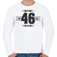 PRINTFASHION b-day-46-dark-lightgrey - Férfi pulóver - Fehér