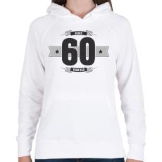 PRINTFASHION b-day-60-dark-lightgrey - Női kapucnis pulóver - Fehér