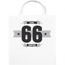 PRINTFASHION b-day-66-dark-lightgrey - Vászontáska - Fehér