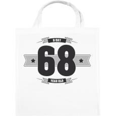 PRINTFASHION b-day-68-dark-lightgrey - Vászontáska - Fehér