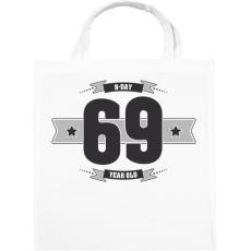 PRINTFASHION b-day-69-dark-lightgrey - Vászontáska - Fehér