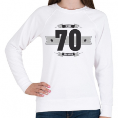 PRINTFASHION b-day-70-dark-lightgrey - Női pulóver - Fehér