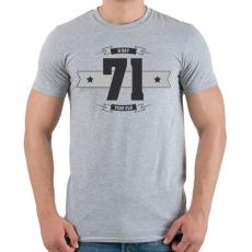PRINTFASHION b-day-71-dark-lightgrey - Férfi póló - Sport szürke