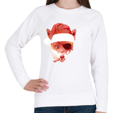 PRINTFASHION Bad santa - Női pulóver - Fehér