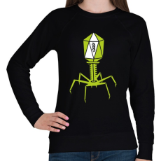 PRINTFASHION bakteriofág - Női pulóver - Fekete