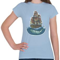 PRINTFASHION Bálnahajó - Női póló - Világoskék