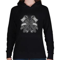 PRINTFASHION Balták - Női kapucnis pulóver - Fekete