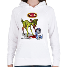 PRINTFASHION Bambi - Női kapucnis pulóver - Fehér