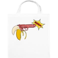 PRINTFASHION Banánfegyver - Vászontáska - Fehér