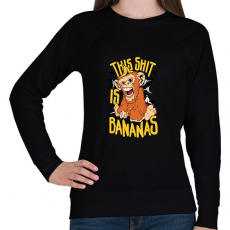 PRINTFASHION Banános maki - Női pulóver - Fekete