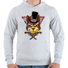 PRINTFASHION Bandita macska - Férfi kapucnis pulóver - Sport szürke