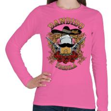 PRINTFASHION Bandita - Női hosszú ujjú póló - Rózsaszín