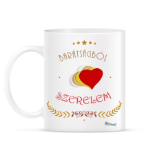 PRINTFASHION Barátság - szerelem - Bögre - Fehér ajándéktárgy