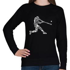 PRINTFASHION Baseball játékos - Női pulóver - Fekete
