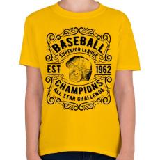 PRINTFASHION Baseball szuper liga  - Gyerek póló - Sárga