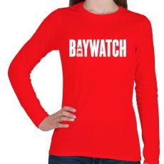 PRINTFASHION BAYWATCH - Női hosszú ujjú póló - Piros