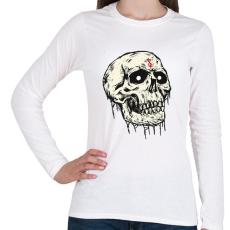 PRINTFASHION Beast Design Skull - Női hosszú ujjú póló - Fehér