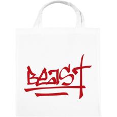 PRINTFASHION Beast Design Text Logo - Vászontáska - Fehér