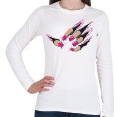 PRINTFASHION Beast nails - Női hosszú ujjú póló - Fehér
